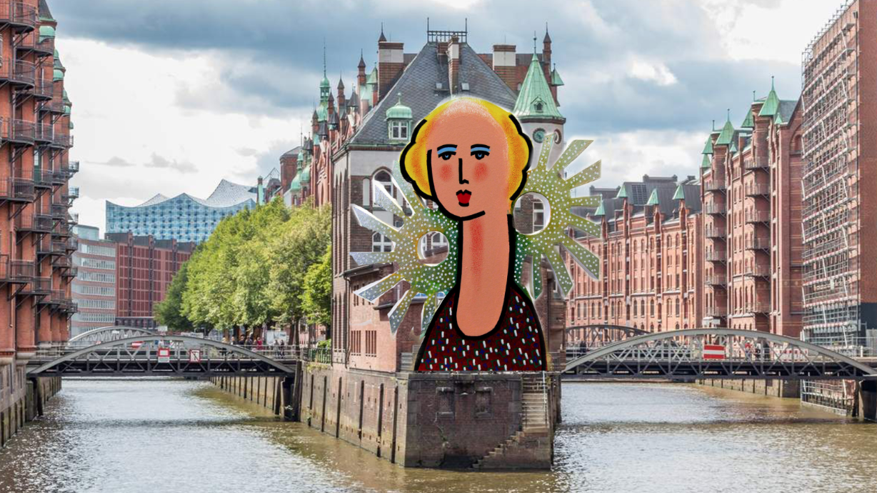 Zolper, Dame-sculpture for public spaces. Hamburg